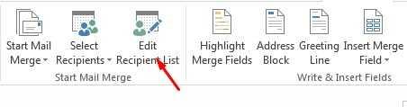 edit recipient list