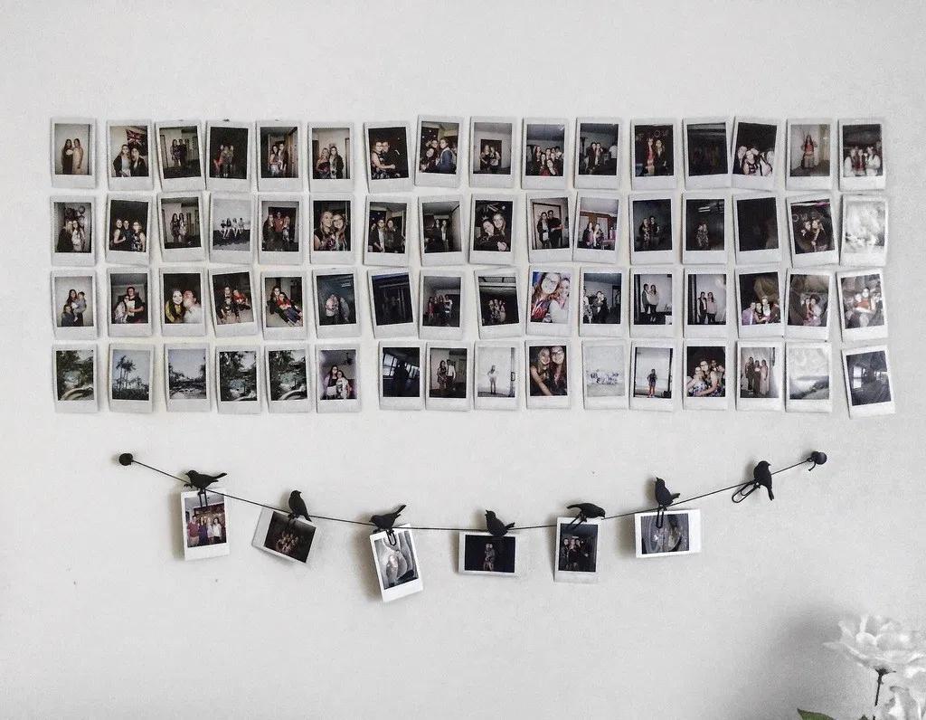 hiasan dinding polaroid