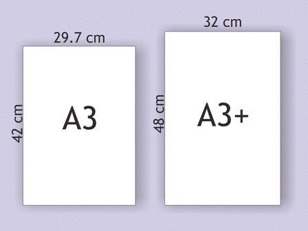 kertas ukuran A3 dan A3 plus
