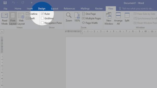Ruler Microsoft Word