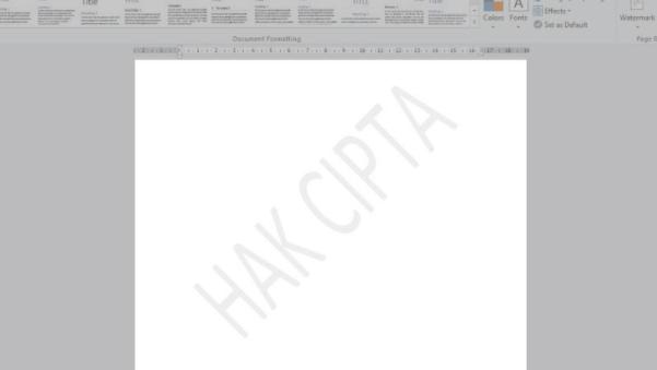 cara membuat tulisan watermark banyak di Word