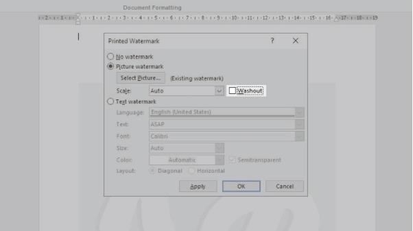 cara membuat watermark gambar di word