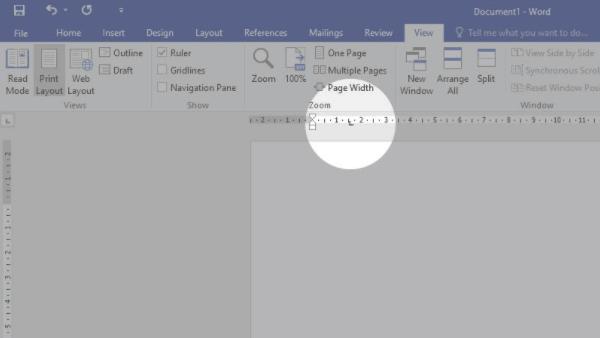 mengatur jarak tab di word