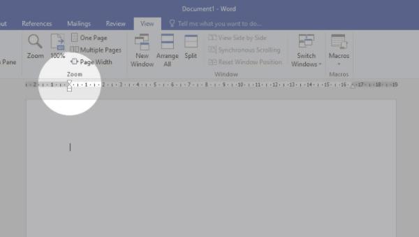 zoom ruler word