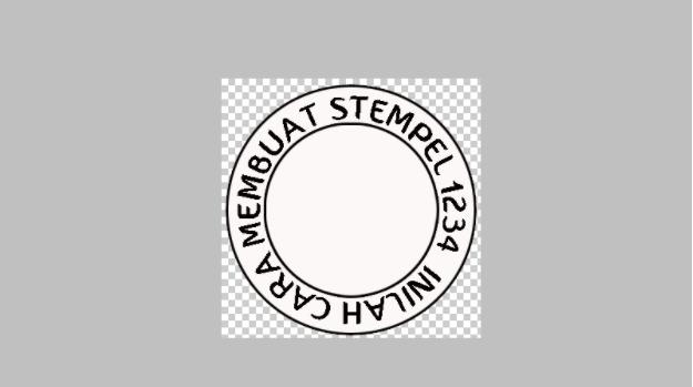 cara membuat stempel cap lingkaran