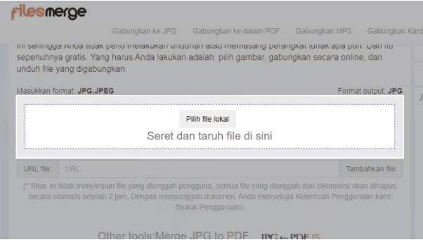 Klik 'Pilih file lokal'