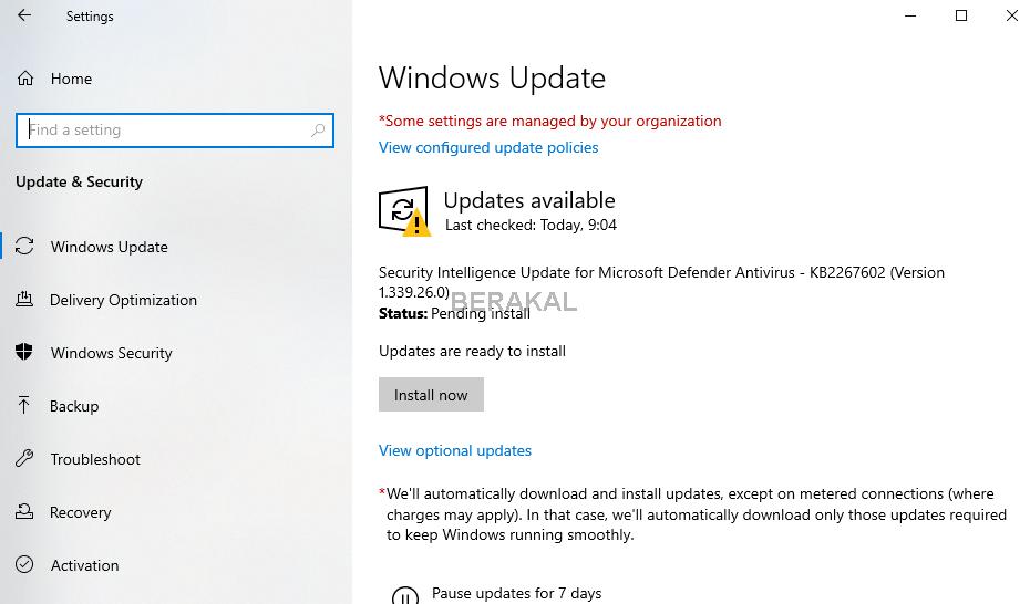 Windows update Windows 10