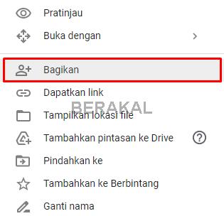 cara memberikan izin akses file google drive