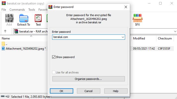 cara membuka password rar yang lupa