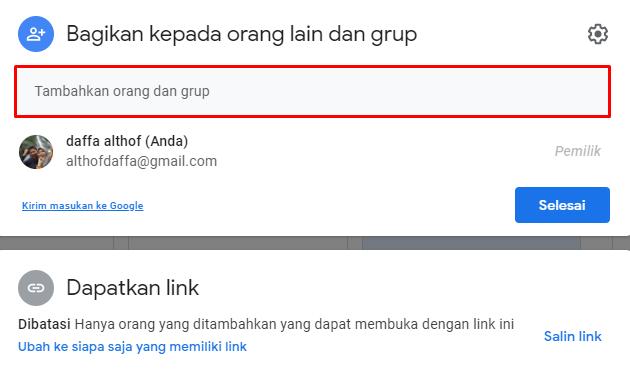 google drive need permission access file