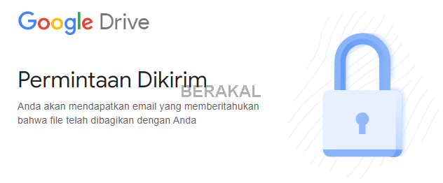 memerlukan izin akses file google drive