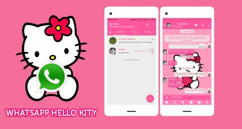 Tema WA Hello Kitty