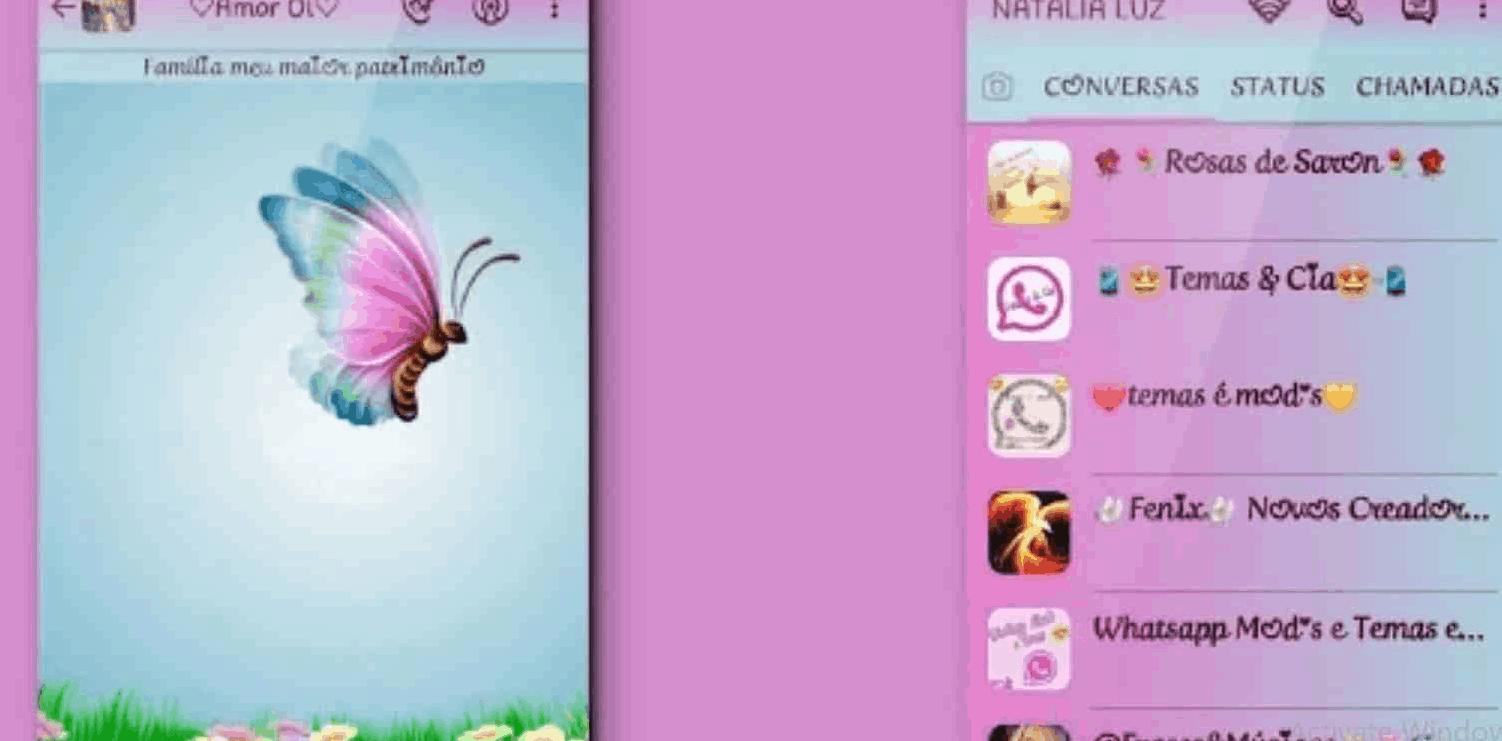 Tema WA Purple Butterfly