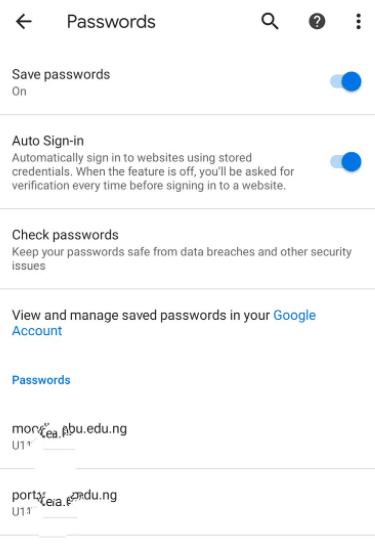 daftar password situs yang tersimpan