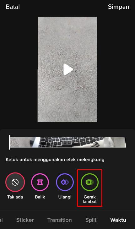 edit video slowmo di TikTok